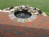 Hearringbone Patio with Water Feature