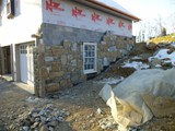 Natural Stone Veneer New Build In Progress